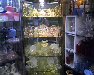 Very fine Vaseline Glass Collection at Max Miller Antiques